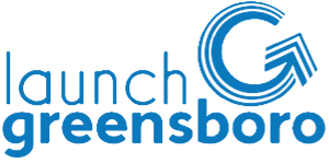 Launch Greensboro Logo in Blue