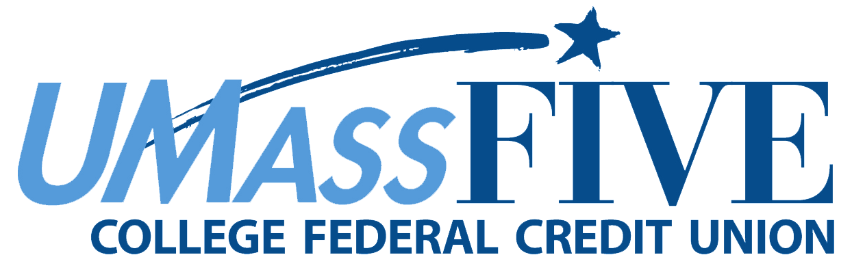 UMass Five College Federal Credit Union Logo one color blue